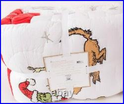 Pottery Barn PB Teen 2020 Grinch quilt, Christmas, twin or twin XL