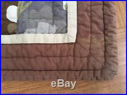 Pottery Barn PB Teen Comforter Full / Double Quilted Patchwork Camo Heavyweight