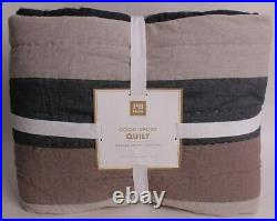 Pottery Barn PB Teen Good Sport twin quilt, blue khaki
