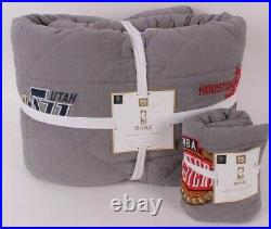 Pottery Barn PB Teen NBA Western Conference twin quilt & standrd sham basketball