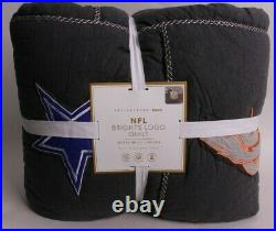 Pottery Barn PB Teen NFL Brights twin quilt, football