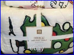 Pottery Barn Peanuts Snoopy Twin Quilt Sham Sheet Set Christmas Bedding Teen Kid