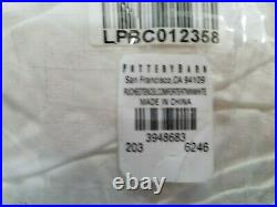 Pottery Barn Ruched Tencel White Twin Comforter #3654
