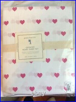 Pottery Barn SET Valentine Snoopy Pillowcase+ HEART TWIN SHEET SET PINK princess
