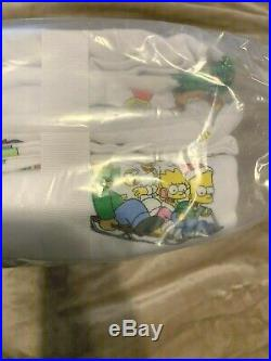 Pottery Barn SIMPSONS TWIN Sheet set Holiday teen Christmas Bart Homer Marge 3Pc