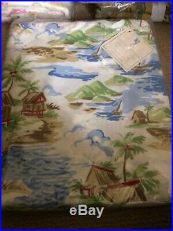 Pottery Barn Santa Barbara Hawaiian Style Surf Twin Duvet NWT