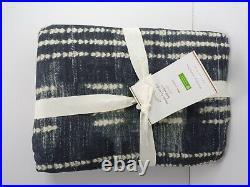 Pottery Barn Shibori Dot Bed Skirt Blue Twin #5026