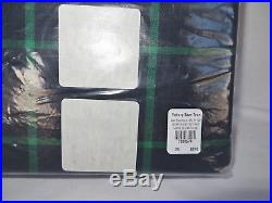 Pottery Barn Teen Boxter Plaid Twin Duvet Cover Navy Green New