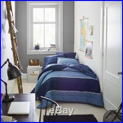 Pottery Barn Teen Boy/men Blue Twin XL Aiden Stripe Comforter Set Sheets/sham