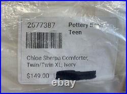 Pottery Barn Teen Chloe Sherpa Quilt, Twin/Twin XL, Ivory, Free Shipping