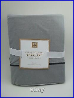 Pottery Barn Teen Classic Oxford Sheet Set Gray XL Twin #747