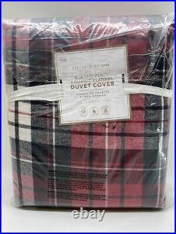 Pottery Barn Teen Classic Plaid Organic Flannel Duvet Cover, Twin/Twin XL