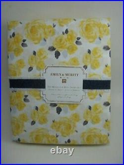 Pottery Barn Teen Emily Meritt Marigold Rose Floral Yellow Sheet Set Twin #2474