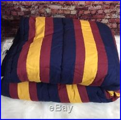Pottery Barn Teen Harry Potter Hogwarts Striped Quilt Twin Blue Yellow Maroon