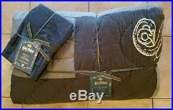 Pottery Barn Teen Harry Potter Quidditch Gray Twin Multi Quilt With Std Sham #2840