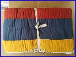 Pottery Barn Teen MVP Stripe Quilt Twin Multi #3194