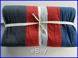 Pottery Barn Teen Mvp Stripe Multi Twin Quilt #2968