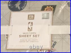Pottery Barn Teen NBA Basketball Twin Quilt, Sham, Sheet Set, Western Conference