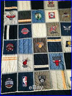 Pottery Barn Teen NBA Eastern Basketball Conference Patchwork Bedding Quilt Twin
