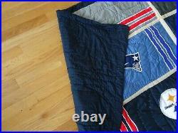 Pottery Barn Teen NFL AFC Football patchwork Full queen quilt 2 standard shams