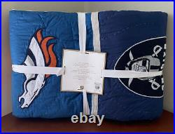 Pottery Barn Teen NFL TWIN Quilt AFC Teams