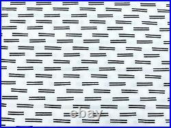 Pottery Barn Teen Performance Microfiber Dash twin XL sheet set White Navy