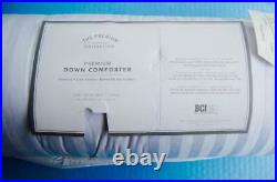 Pottery Barn Teen Premium Down Comforter TWIN White Cotton 68x86 NWT