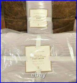 Pottery Barn Teen Recycled Super Soft Sherpa Comforter Twin & Sham, Dusty Iris