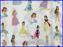 Pottery barn kids Organic Disney Princess Sheet Set Twin Blue Pink Lavender