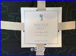 Potterybarn Kids Walker Skull Navy Quilt Twin New