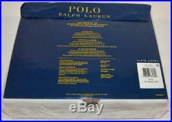 RALPH LAUREN Polo Teddy Bear Boy 3P TWIN SHEET SET NEW COTTON Red Blue White