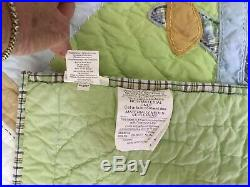 RARE Pottery Barn Kids VINTAGE PLANES airplane Twin Size (68 X 86) QUILT EUC