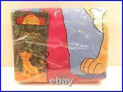 RARE Vintage DISNEY THE LION KING 3 Piece Twin Size Bed Sheet Set NIP Nice