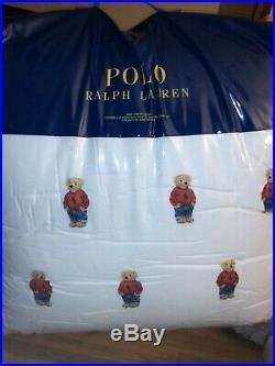 Ralph Lauren Boy Polo Bear Twin Comforter Set