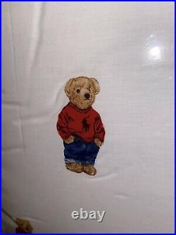 Ralph Lauren Boy Teddy Bear 3pc Twin Sheet Set Nip