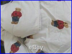 Ralph Lauren Polo Teddy Bear Boy Twin Comforter Set Nip