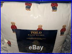 Ralph Lauren Polo Teddy Bear Comforter SET BOY NWT with Sham's
