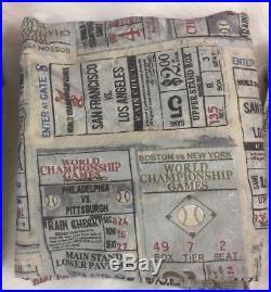 Restoration Hardware Baseball Sheets Twin Multicolor Pictorial