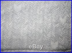 Restoration Hardware Woven Herringbone Twin Duvet Cover Standard Sham Storm Gray
