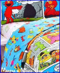 SESAME STREET Kids Boys COMICS Twin or Full Size Comforter Set+Sheet Set+Sham(s)