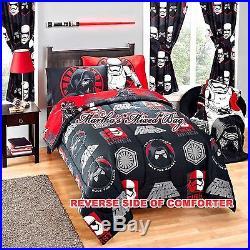STAR WARS Episode VII The Force Awakens Boy Twin/Full Comforter+Sheet Set+DRAPES