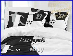 Soccer Bedding Set Boys or Girls, Custom Personalized Comforter, Pillow, Decor