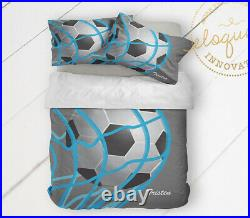 Soccer Comforter for Boys, Soccer Bedding Set, Personalized with Name, Sham
