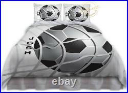 Soccer Duvet Cover Set, Bedding for Boys Room, Kids Soccer Gifts Room Decor Teen