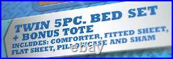 Spiderman Blue Twin Bed Set With Reversible Comforter + Bonus Tote