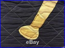 Sports Blue Boy Kids Bedding Twin Quilt Set Cotton Bedspread Soccer Football