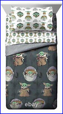 Star Wars Baby Yoda The Child 5 Piece Twin Bed Set with Bonus Tote Mandalorian NEW