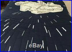 Star Wars Millennium Falcon Pottery Barn Kids Twin Quilt Comforter Blanket