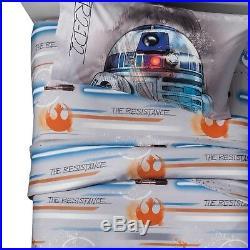 Star Wars Twin Bedding Complete Set Comforter Sheets Kids Boy Bedroom Decor R2D2