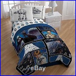 Star Wars Twin Full Disney Reversible Comforter Boy twin sheet set Bed in a bag